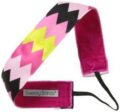 Amazon.com: Sweaty Bands Chevron Shuffle Headband: $15.22  Velvet lining won't let your hair slip