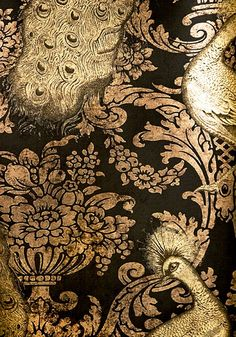 Antique opulent wallpaper - inspiration from blossomgraphicdesign.com #boutiquedesign