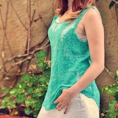 Renda, transparência e na cor verde água, para um verão mais leve! #moda #estilo