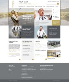 Dr Cakic, Orthopaedic Practice by Yorkhill Creative on Behance | #UI #web #design