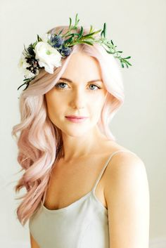 Pastel pink hair dye