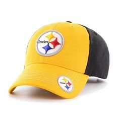 Mens NFL Steelers Cap Football Themed Hat Embroidered Team Logo Sports Patterned Team Logo Fan Athletic Team Spirit Fan Comfortable Gold White Red Blue