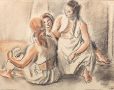 Odalisques,1940 - Iosif Iser Art Database, Impressionism, Art History, Abstract Art, Digital Art, The Incredibles, Graphic Design, Drawings, Illustration