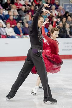 Canadian ice dancers Alexandra Paul & Mitchell Islam (photograph by Danielle Earl)