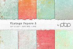 Vintage Paper Textures 3 by pixelbypixel on @creativemarket