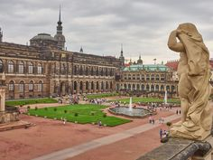 Innenansicht vom Zwinger in Dresden Dresden, Louvre, Building, Travel, Holiday Photos, Viajes, Buildings, Destinations, Traveling
