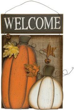 Prim Welcome Sign for the Autumn