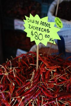 Sundried chile peppers, Mercado de abastos, Guadalajara, Mexico