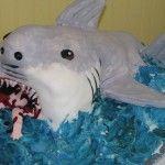 A Jaws Theme Movie Cake.