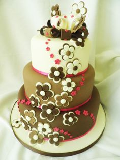 Chocolate Wedding Cake - To view the tutorial, please visit http://www.craftcompany.co.uk/chocolate-wedding-cake.html