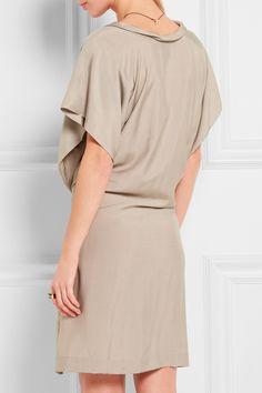 Vivienne Westwood Anglomania | Bee gathered washed-poplin mini dress | NET-A-PORTER.COM