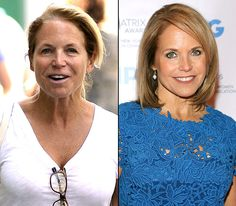 Katie Couric with without