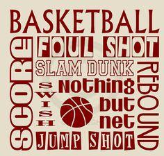 Basketball Vinyl Wall Decal -  Children's Decor