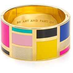 Kate Spade New York Be Art And Part Of Idiom Cuff found on Polyvore