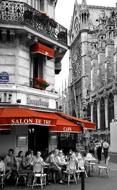 Looks like a corner cafe in Paris...