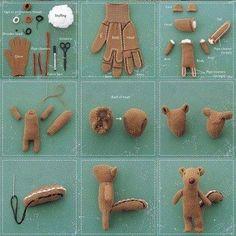 Como hacer una ardilla con un guante How to make a squirrel with a glove