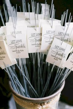 For an autumn bride and groom, one of our favorite parts is incorporating sparklers for their wedding send off. Not only are these fun for your guests but are also great props for wedding photos.  #weddingideas #weddingsparkles #weddingdecor #fallweddings Wedding Send Off, Diy Wedding, Wedding Events, Dream Wedding, Wedding Ceremony, Elegant Wedding, Wedding Themes, Wedding Readings, Geek Wedding