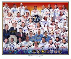 Astronauts of Apollo - This is a photo collage composition of the NASA crew…
