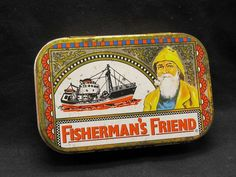 vintage Metal Tin Box Fishermans Friend | eBay  --how killer would this be?!