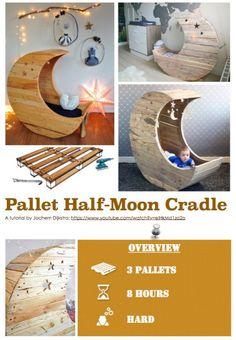 Diy Tutorial: Pallet Half-moon Cradle Step-by-step Printable PDF Tutorials