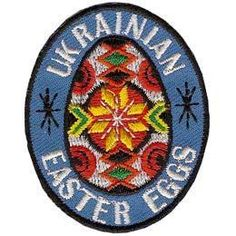 Ukrainian Easter Eggs Embroidered Iron On Patch Badge Emblem Scouts BN E097