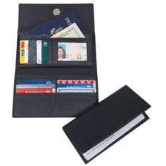 Access Denied Womens RFID Blocking Leather Wallet and RFID Checkbook Holder
