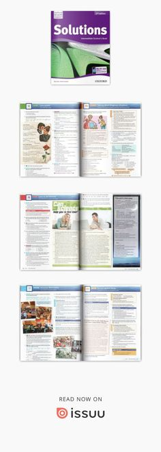 Solutions ed intermediate book English Book, English Lessons, English Grammar, Textbook, Author, Reading, Books, Livros, Libros