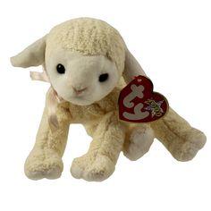885f2885ec4 Fleecie 2000 Easter Ty Beanie Babie 6in Cream Lamb 3up Boys Girls 4279 for  sale online