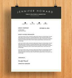 Resume Template | CV Template + Cover Letter | Modern Resume Design ...