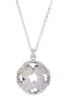 Swarovski Hemisphere Pave Crystal Necklace
