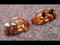 How to make handmade jewelry- DIY Wire Rings - Hướng dẫn làm nhẫn từ dây đồng - YouTube