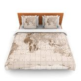 Found it at Wayfair - Emerald World by Catherine Holcombe Woven Duvet Cover