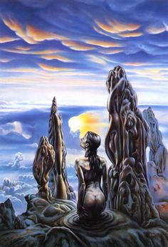 sciencefictiongallery:  Barclay Shaw - Vesperal Clouds