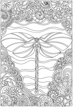 Welcome to Dover Publications Creative Haven Entangled Dragonflies by Angela Porter