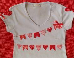 Kit com camisa festa junina (coração)