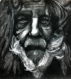 Carboncillo, Retrato. deGranero cursos dibujo pintura fotografía Madrid academia taller arte.