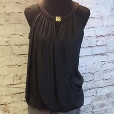 ANNE KLEIN DRESSY BLOUSE Great staple piece for all season wear. Front is a polyester while the back is a stretchy knit. This is NEW NEVER WORN WITH TAG NOT ATTATCHED Anne Klein Tops Blouses