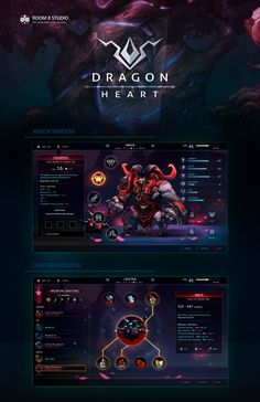 [콘솔] Dragon Heart: UI and Art Direction : 네이버 블로그 Game Design, Web Design, Game Character Design, Design Blog, Logo Design, Game Interface, User Interface Design, Dragon Heart, Game Gui