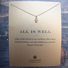 dogeared all is well hamsa necklace, gold dipped – shop hearts