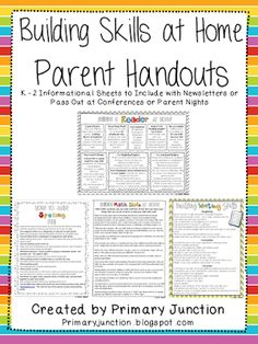 Helping At Home - Parent Handouts