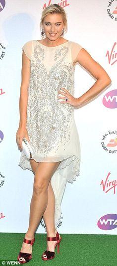 Maria Sharapova wearing Antonio Berardi at the WTA Pre-Wimbledon party