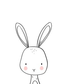 Shop Bunny Woodland Animal Nursery art Black and white Poster created by Anietillustration. Bunny Nursery, Woodland Animal Nursery, Woodland Animals, Nursery Art, Nursery Drawings, Baby Animal Drawings, Simple Animal Drawings, Bebe Love, Bunny And Bear