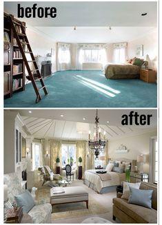 ideas para un antes y despues en nuestro hogar www.ComoOrganizarLaCasa.com, Como renovar la casa facilmente, ideas para renovar la recamara