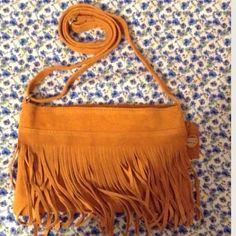 Fringe Bag Color Brick Bags