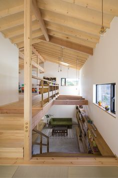 Japanese Modern House, Japanese Home Design, Japanese Interior, House Stairs, House Roof, Loft Interior Design, Interior Architecture, Wood House Design, Build My Own House