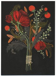becca stadlander - bouquet card, via Etsy.