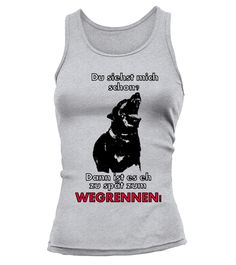 "Girls TankTop ""Du siehst mich schon? Dann ist es eh zu spät zum wegrennen!"" 