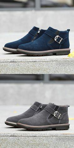 de9a633ab Prelesty Men Winter Snow Boots Keep Warm Plush Ankle Work Shoes. Botas ...