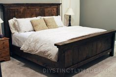 DIY Pottery Barn Farmhouse Bed - DIYstinctlyMade.com