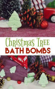 Christmas Tree Bath Bombs on www.girllovesglam.com